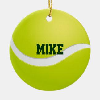 Tennis Ball Sport Fan Ceramic Ornament