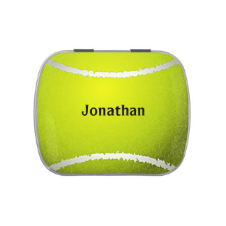Tennis Ball Sports Design Party Favor Candy Jar Candy Tin