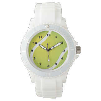 Tennis Ball sports white silicone watch