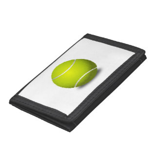Tennis Ball Trifold Wallets