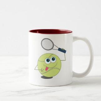 Tennis Ball Two-Tone Coffee Mug