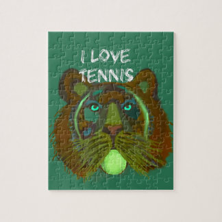 Tennis ball with lion jigsaw puzzle