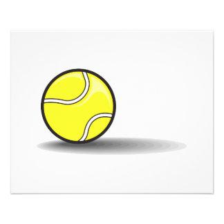 tennis ball with shadow custom flyer