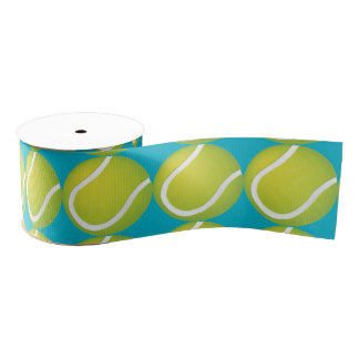 Tennis Balls Grosgrain Ribbon