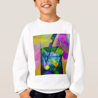 Tennis balls in celebration sweatshirt