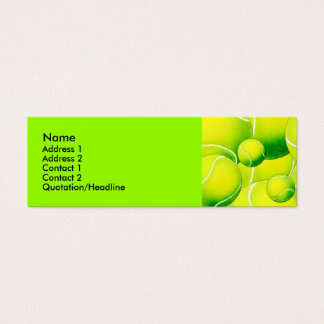 Tennis Balls Profile Card