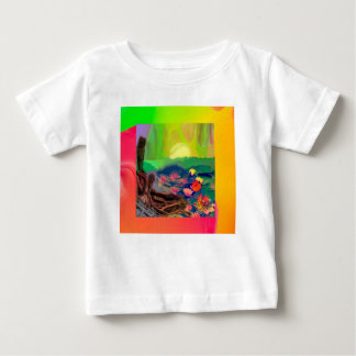 Tennis balls showed up among lilies on the pond. baby T-Shirt