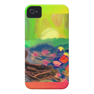Tennis balls showed up among lilies on the pond. Case-Mate iPhone 4 case