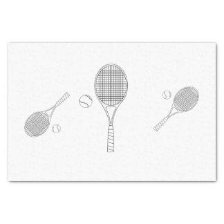 Tennis Bat and Ball Tissue Paper