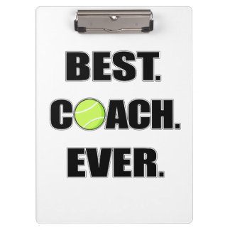 Tennis Best Coach Ever Clipboard