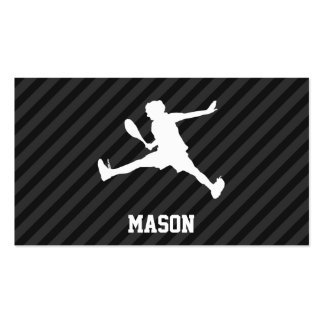 Tennis; Black & Dark Gray Stripes Double-Sided Standard Business Cards (Pack Of 100)