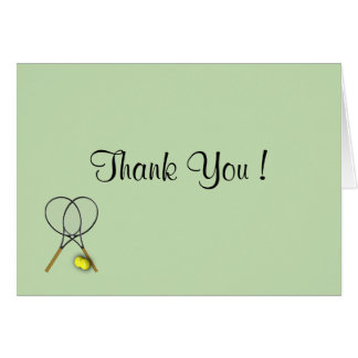 Tennis Blank Inside Thank You Card