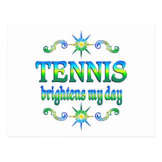 Tennis Brightens Postcard