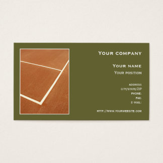 """Tennis"" business card"