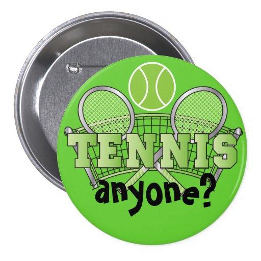 Tennis Button- Tennis Anyone? Green