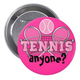 Tennis Button- Tennis Anyone Pink
