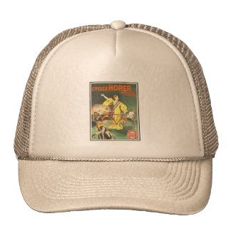 Tennis Cap:  Vintage Cycles Horer Bicycle Ad Cap