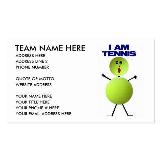 Tennis Cartoon Business Card