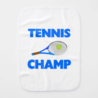 Tennis Champ Burp Cloth
