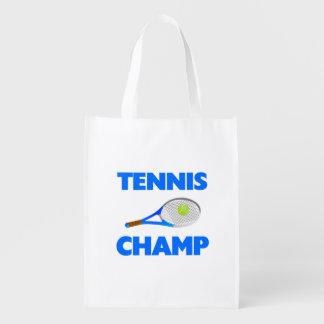 Tennis Champ Reusable Grocery Bag