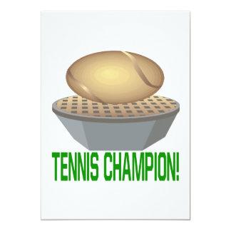 "Tennis Champion 5"" X 7"" Invitation Card"