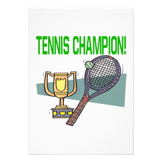 Tennis Champion Announcements