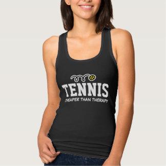 Tennis Cheaper Then Therapy Women's black tank top