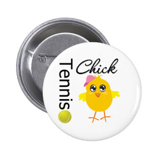 Tennis Chick Player 6 Cm Round Badge