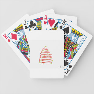 Tennis Chrismas Bicycle Playing Cards