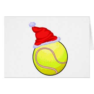 Tennis Christmas Greeting Card
