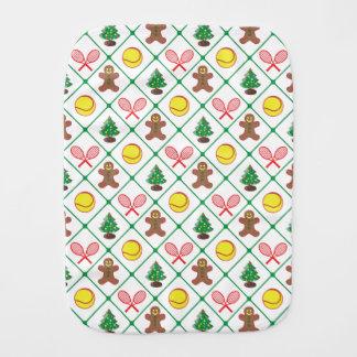 Tennis Christmas pattern Burp Cloth