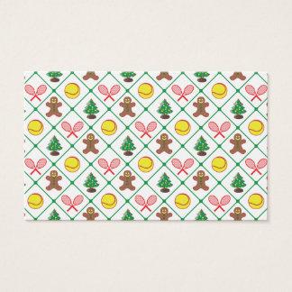 Tennis Christmas pattern Business Card