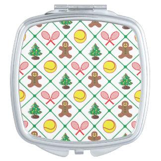 Tennis Christmas pattern Compact Mirror