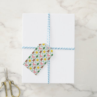Tennis Christmas pattern Gift Tags