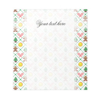 Tennis Christmas pattern Notepad