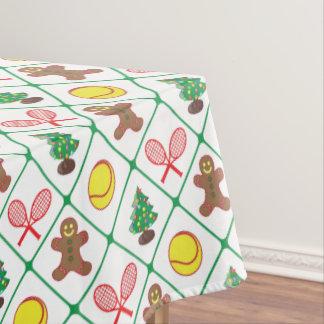 Tennis Christmas pattern Tablecloth