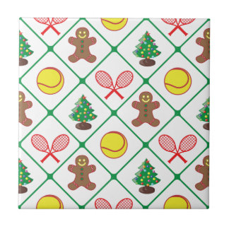 Tennis Christmas pattern Tile