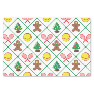 Tennis Christmas pattern Tissue Paper