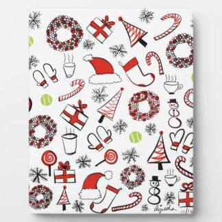 Tennis Christmas Plaque