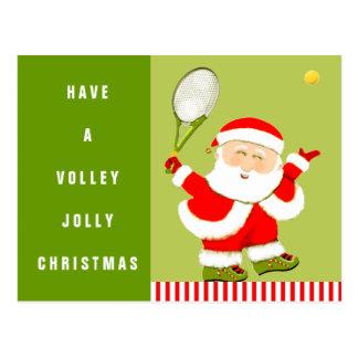 Tennis Christmas Postcard