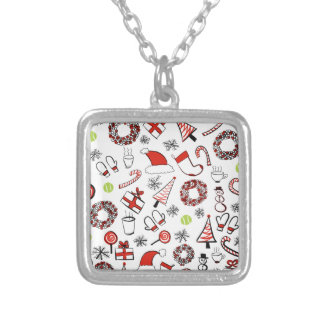 Tennis Christmas Silver Plated Necklace