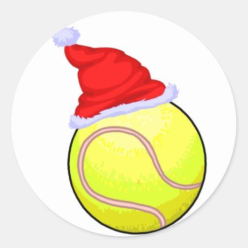 Tennis Christmas Sticker