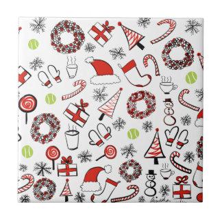 Tennis Christmas Tile