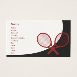 Tennis - Classic Business Card