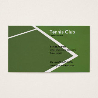 Tennis Club Business Card
