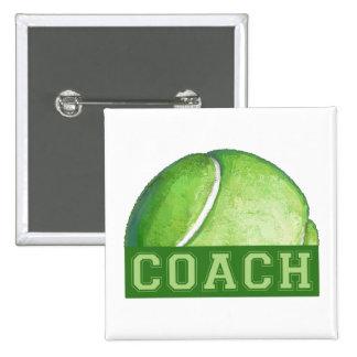 Tennis Coach 15 Cm Square Badge