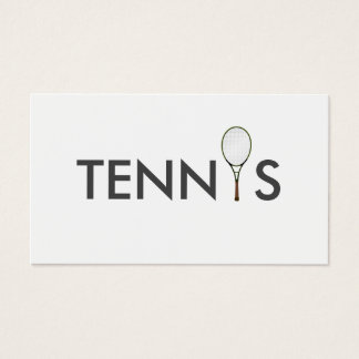 Tennis Coach Business Card