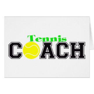 Tennis Coach Card