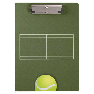 Tennis Coach Clipboard