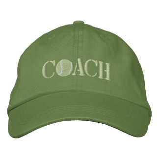 Tennis Coach Embroidered Hat
